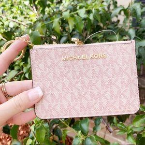 Michael Kors coin wallet ID holder pink